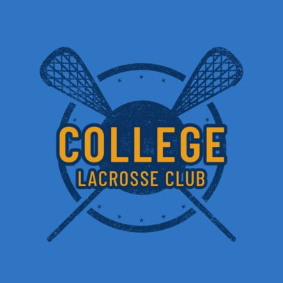 Lacrosse Logo Template for a Lacrosse Club 1590b