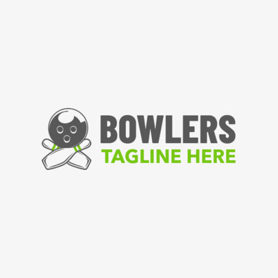 Bowling Logo Maker with Bowling Ball and Pin Graphics 1587c