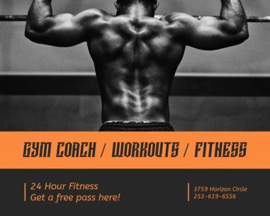 Vinyl Banner Maker for Personal Trainers 791a