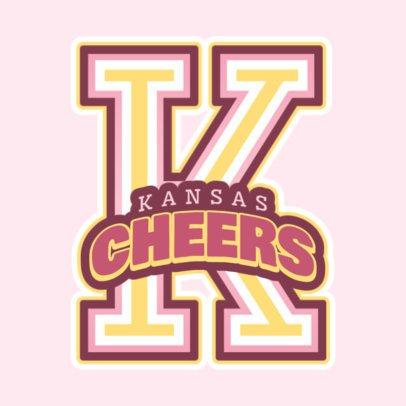 Cheerleading Logo Maker for a Cheerleader Squad 1597c