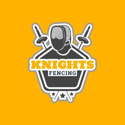 Fencing Logo Creator for a Fencing Team 1612e