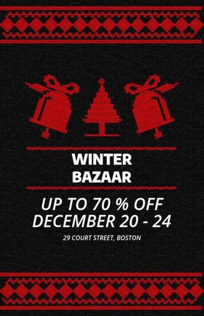 Xmas Flyer Maker for a Winter Bazaar with Christmas Bells 864d