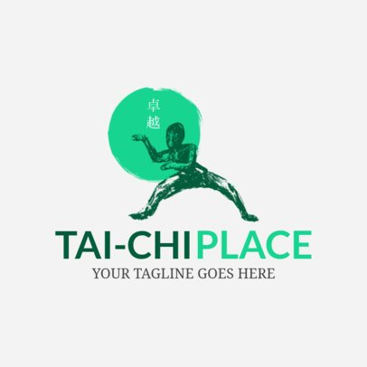 Martial Arts Logo Maker for Tai Chi Place 1605c