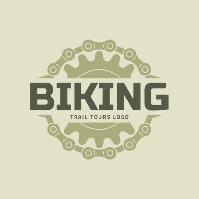 Biking Logo Design Template for Trail Tours 1570b
