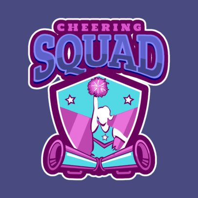 Cheer Logo Design Template for a Cheer Squad 1598a