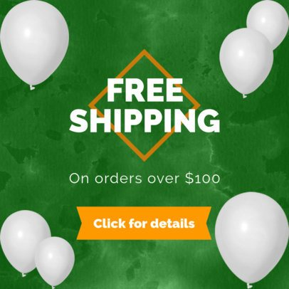 Free Shipping Ad Banner Maker 750f