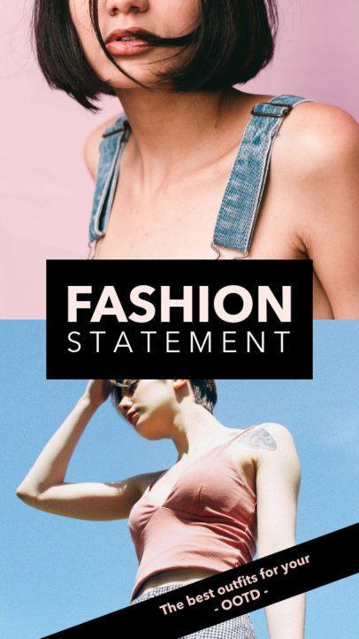 Insta Story Maker for a Fashion Influencer 961a