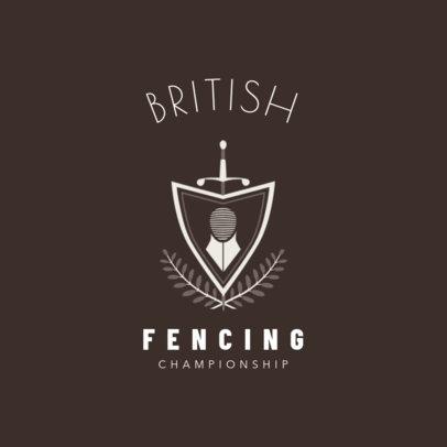 Minimalistic Fencing Logo Maker 1614c