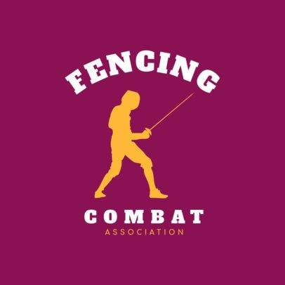 Fencing Logo Design Template for Fencing Teams 1614e