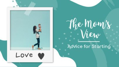 YouTube Thumbnail Template for a Maternity Channel 895a