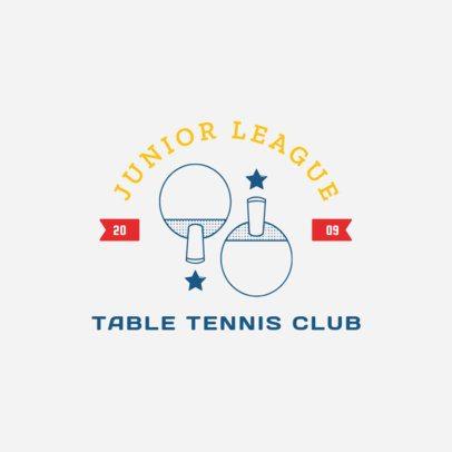 Table Tennis Logo Maker for a Junior League 1626c