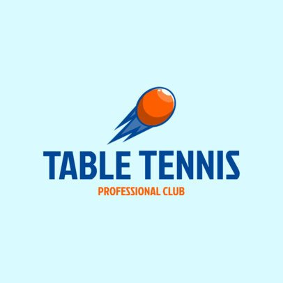 Table Tennis Logo Maker Table Tennis Logo Maker for a Professional Club 1623d