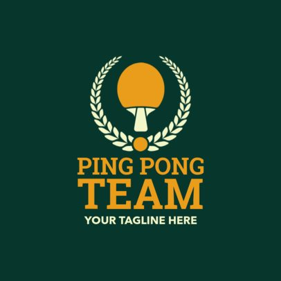 Table Tennis Logo Creator for a Ping-Pong Team 1623e