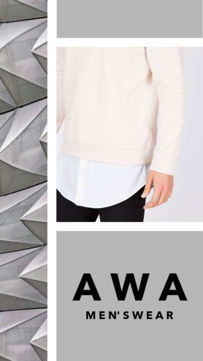 Insta Story Template for a Men's Fashion Brand 957c