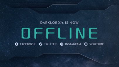 Twitch Offline Banner Maker with a Futuristic Frame 982