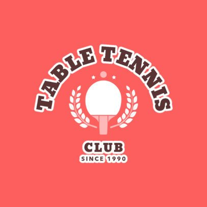 Table Tennis Logo Template for a Table Tennis Club 1624b