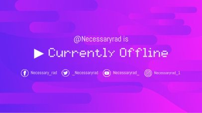 Twitch Offline Banner Generator with Dotted Font 976e