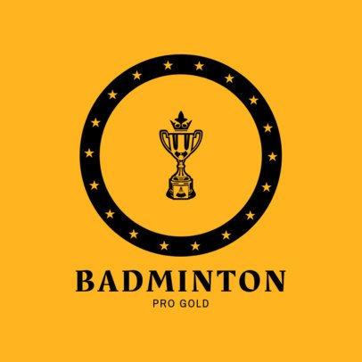 Professional Badminton Logo Maker 1632a
