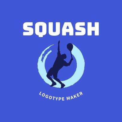 Squash Logo Creator for a Squash Player 1634a