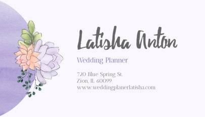 Cute Business Card Template for Wedding Planners 113a