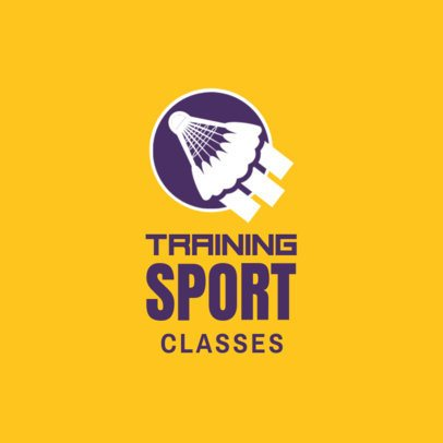 Badminton Logo Maker for Badminton Training Classes 1629c