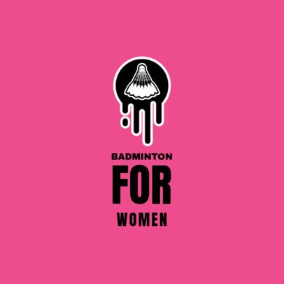 Women's Badminton Logo Maker 1629e