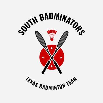 Badminton Logo Design Maker with Badminton Racket Clipart 1630a