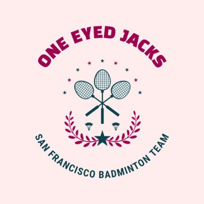Badminton Logo Maker for a Local Badminton Team 1630c