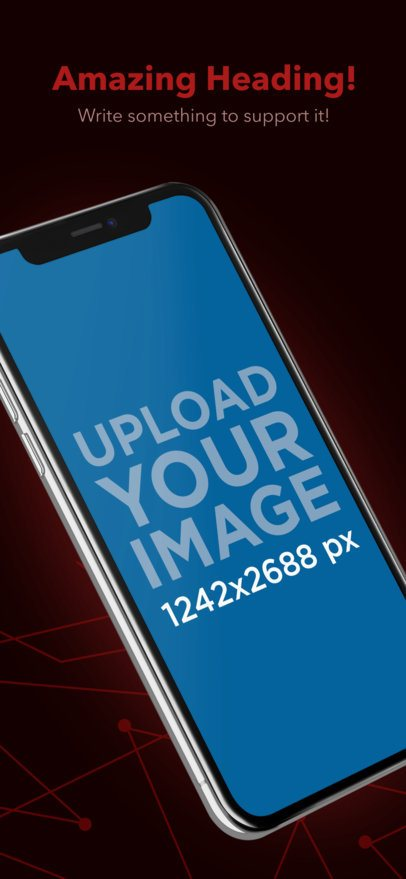 App Store Screenshot Maker of an iPhone XS Max Slightly Leaning Over a Custom Background 25302