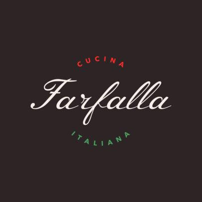 Elegant Italian Restaurant Logo Maker 1662e