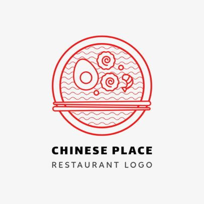 Minimalist Chinese Restaurant Logo Maker 1670e