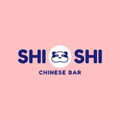 Chinese Restaurant Logo Design Maker for a Chinese Bar 1669d