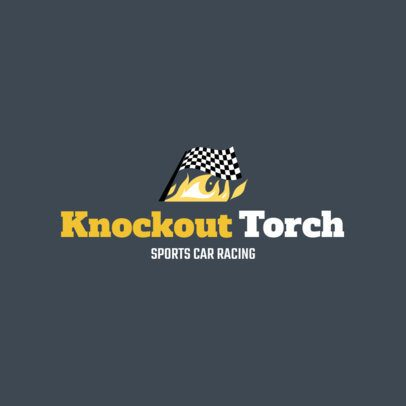 Sports Car Racing Logo Maker 1646a