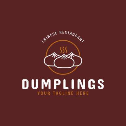 Chinese Food Logo Maker for a Dumpling Restaurant 1666e