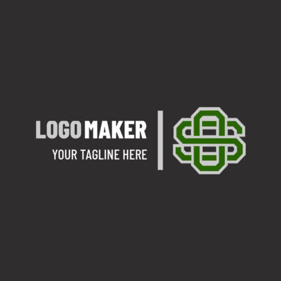 Simple Sports Logo Maker with Interlocked Letters 1689c