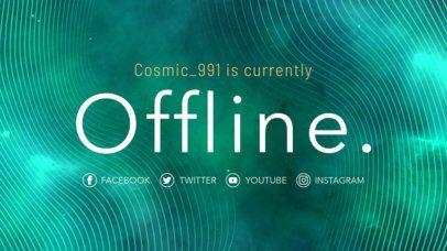 Simple Twitch Offline Banner Template 981