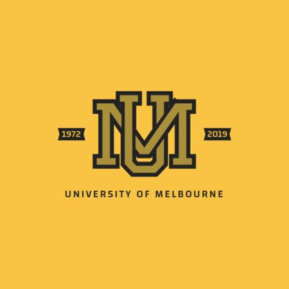 Cool Sports Logo Maker with College Varsity Letters 1693d
