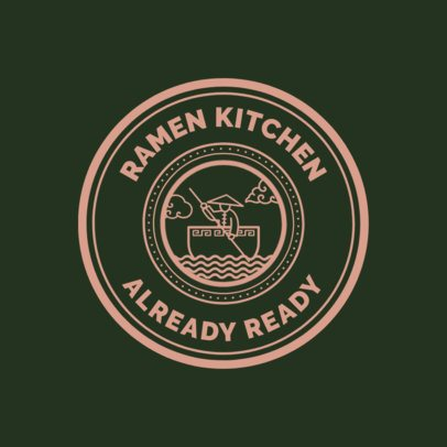 Chinese Food Logo Maker for a Ramen Kitchen 1665e