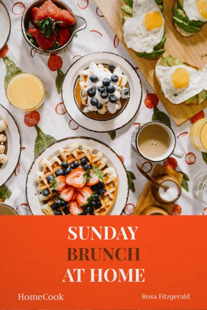 Book Cover Template for Brunch Recipes 907c