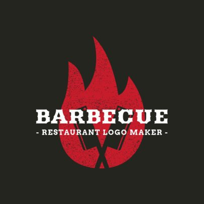 Barbecue Restaurant Logo Maker 1674c