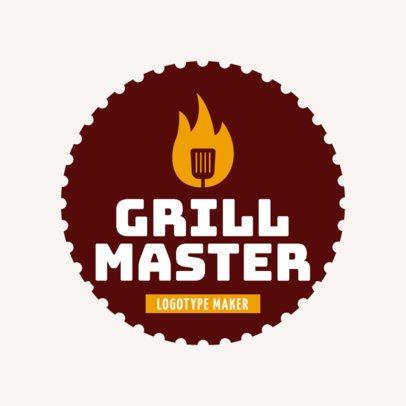 Grill Master Logo Template with Grill Clipart 1677d