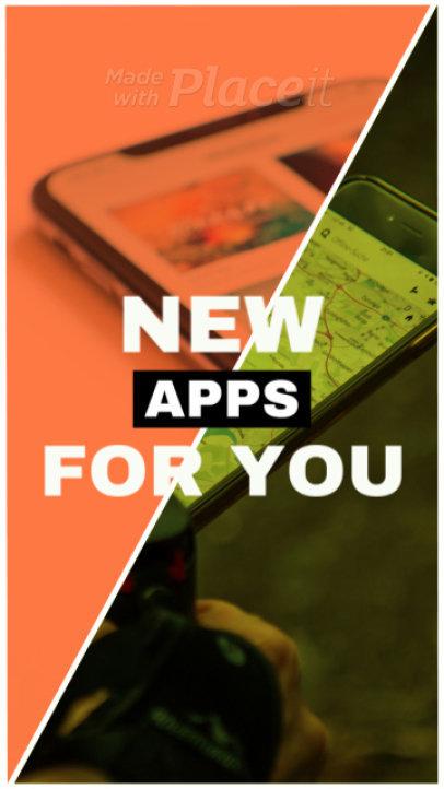 Instagram Story Video Maker for an App Promo Video 268b 1018