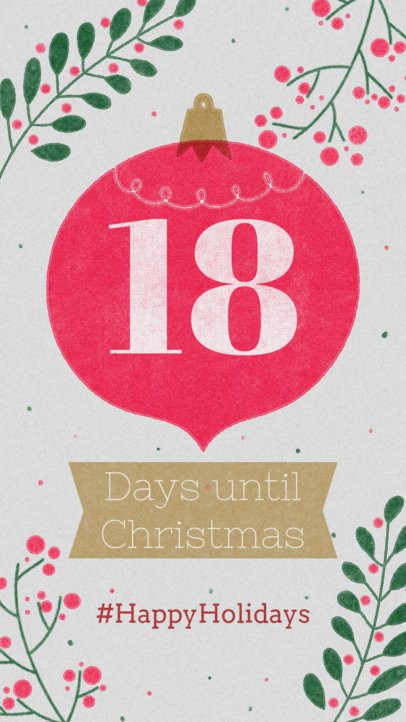 Instagram Story Template for a Christmas Countdown 999