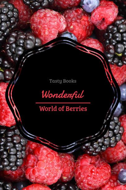 Book Cover Maker for a Berry Recipe Book 924a
