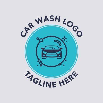 Car Wash Logo Maker with a Car Icon 1754
