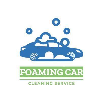 Touchless Car Wash Logo Maker with Car Wash Icon 1753e