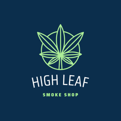 Weed Logo Design Template for a Cannabis Smoke Shop 1778d