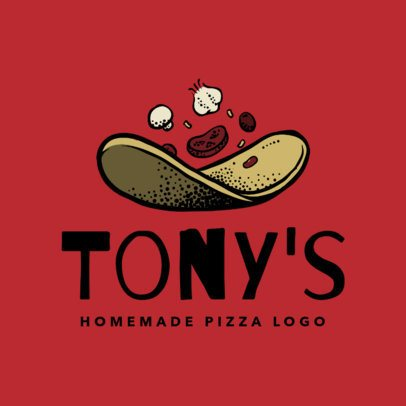 Italian Restaurant Logo Maker for a Handmade Pizza Place 1663e