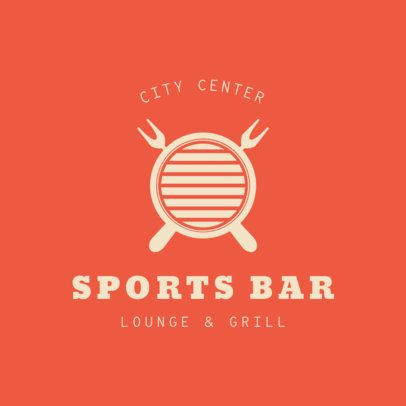 Sports Bar Logo Template for a Lounge and Grill 1684b