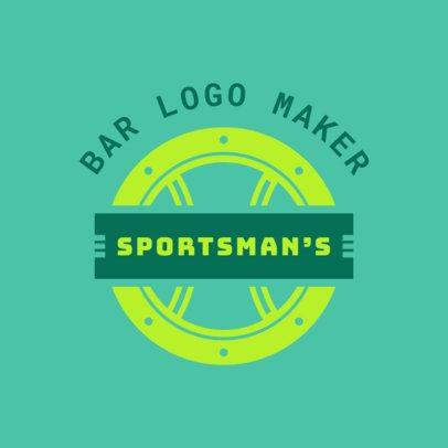 Sports Bar Logo Maker with a Circular Design 1685c